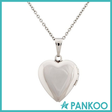 DIY 925 Silver jewelry Photo Picture Open Heart Locket Pendant