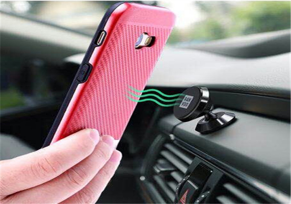 Shock Resistance and Fall Prevention Strong Magnetic Inner Plate Phone Case For iPhone 7 7G