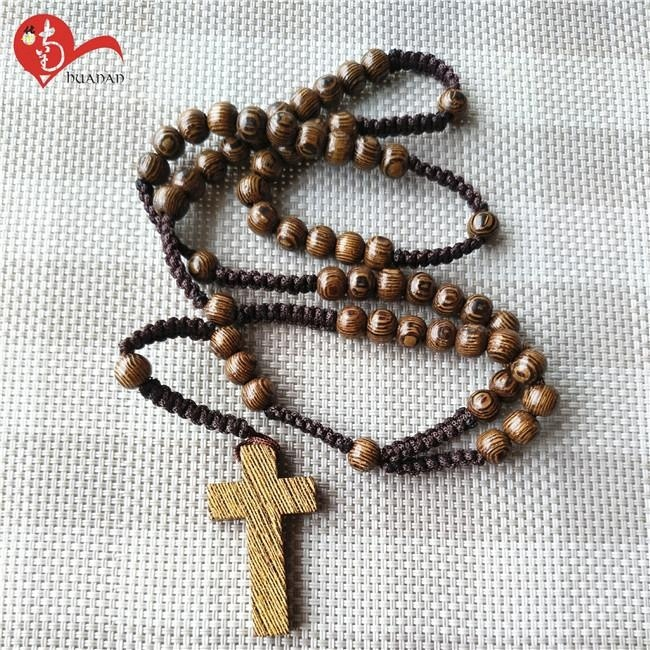 Religious cheap christian olive wood rosary