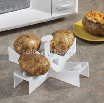 plastic microwave potato baker baking rack
