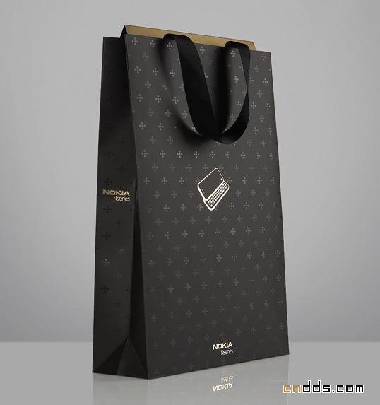 Black Paper Bag New Design Carry Custom Print