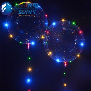 Trade assurance LED Colorful Bobo Balloon Wedding Birthday New Year Party Lights