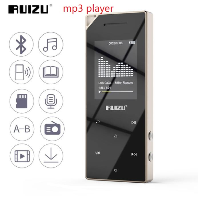 2018 RUIZU D05 Metal BT MP3 <strong>Player</strong> Portable Audio <strong>Player</strong> Sport Mp3 Music <strong>Player</strong> With 16GB Built-in Speaker FM Radio Support TF