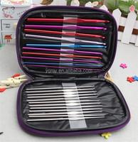 22Pcs Set Multi-colour Aluminum Needles Knit Weave Craft Yarn costura crochet hook sewing
