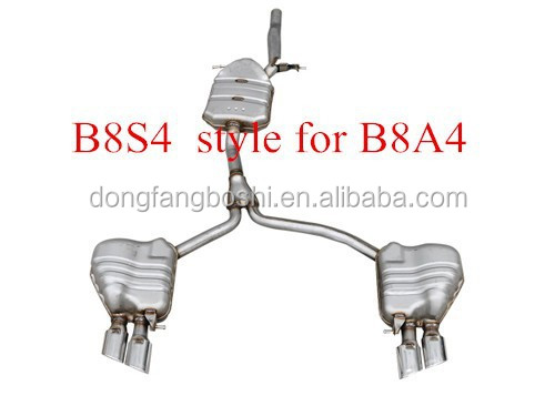 S4 style muffler exhaust for Audi 2013 A4 car