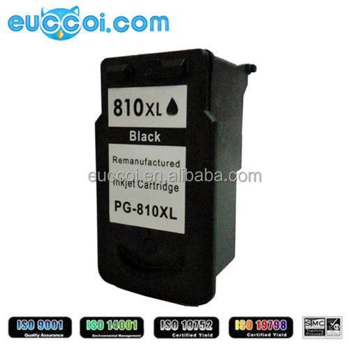 remanufactured compatible ink PG-810XL BK CL-811XL C M Y hot product refillable ink for canon MP245/258 printer ink cartridge