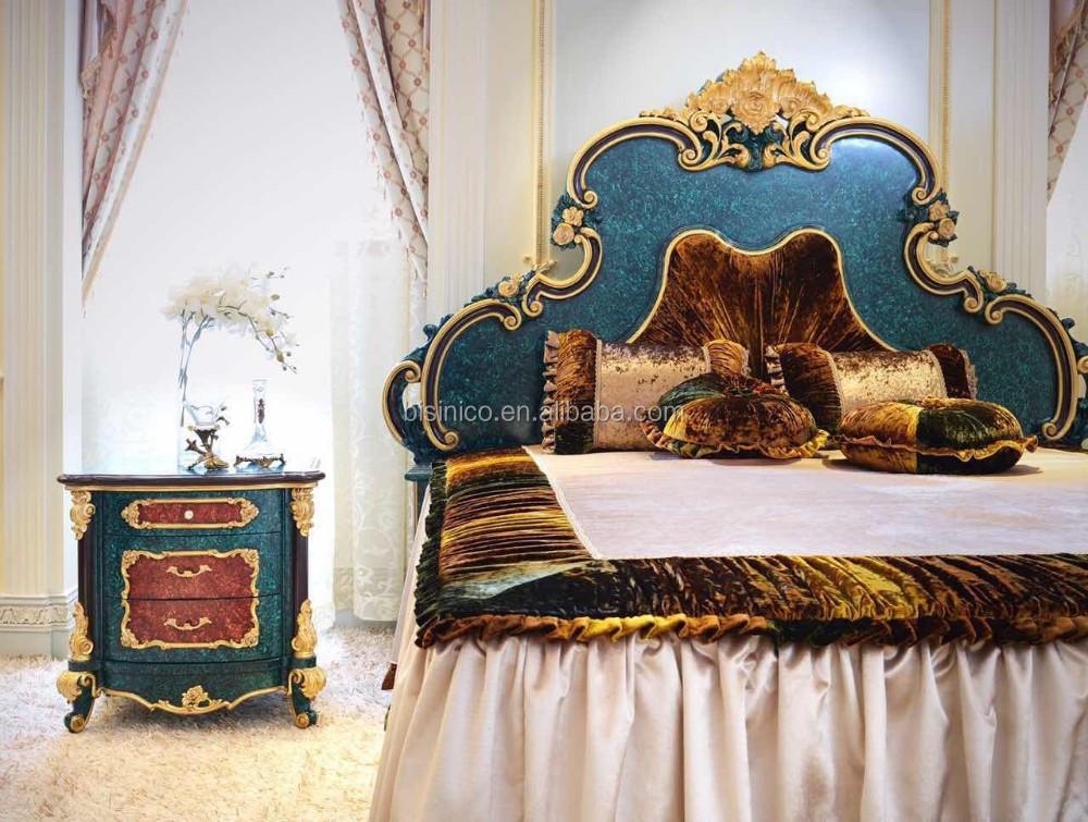 Últimas Verde Pavo Real Del Rey Muebles Juego De Dormitorio/lujo ...