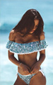 2016 New Women Push Up Bikini Set Vintage Biquini Ruffled Swimsuit Sexy Print Swmwear Beach Swim