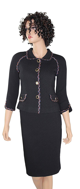 Get Quotations Yalniz Womens Business Suit Navy Blue Dress Suits Skirt Set