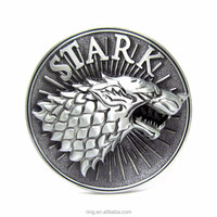 Game Of Thrones Belt Buckle Metal Stark Belt Buckle Silver Men Jewelry Wholesale