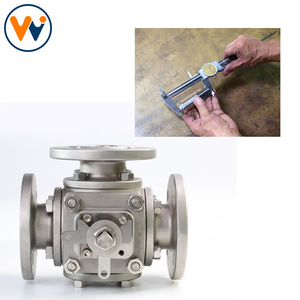 Stainless Steel 3way Gas Refrigeration Top Entry Manufacturer Pneumatic Four Three Control 3 Way Ball Valve 4 Inch