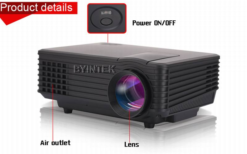 Byintek bt905 smallest home theater hdmi led digital mini for Smallest full hd projector