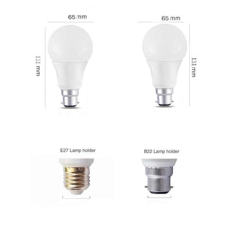 रिचार्जेबल उच्च दक्षता e27 प्रकाश बल्ब शांत सफेद एलईडी लाइट बल्ब का नेतृत्व किया 9W