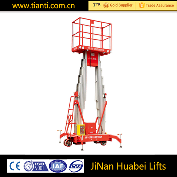 Self propelled hydraulic 200kg mobile manlifts
