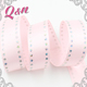 solid pink 1/4 inch polka dot Personalized work designs satin ribbon