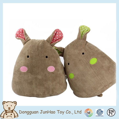 Hot Selling Stuffed Cartoon Character Plush Rabbit Stuffed Pillow Cushion