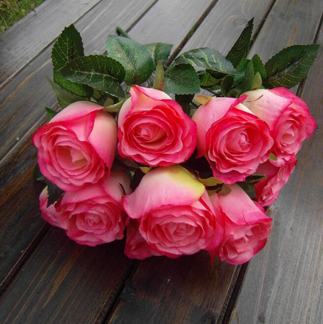 Gnw Pink Big Artificial Flower Rose Production Import China Silk