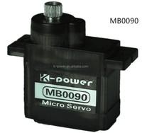 MB0090 micro 9g servo/analog metal gear rc servo /micro servo for toys&hobbies