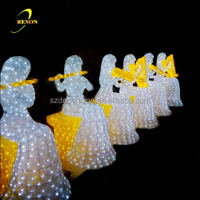 Lighted Outdoor Christmas Angel Commercial