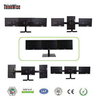 strong u0026 stable cctv triple monitor stand thinkwise l301