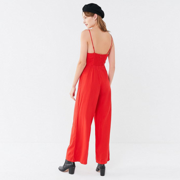 Y18252 Sexy Spaghetti Strap Summer Plain Loose Fit Playsuits Jumpsuits