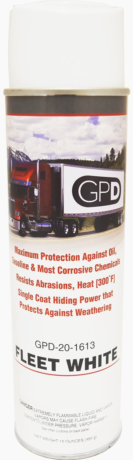 One Case of GPD Fleet White Color Spray Paint Trailer Repairs and Touch Ups