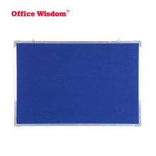 Office supplies 10 mm aluminium frame magnetic dry erase surface combination cork notice white board with mounting hooks