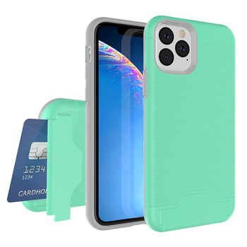 2019 hot for new apple phone wire drawing green PC TPU thin 5.8 inch mobile phone case with pocket