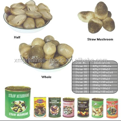 Cheap Canned Straw Mushroom whole straw mushroom in tin