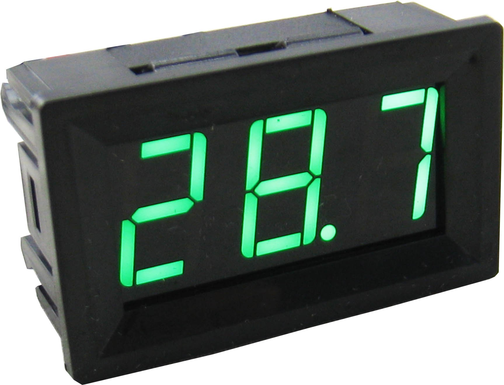 Yeeco -50-110 °C Degrees Celsius Digital Thermometer Car/Motor Temperature Panel Meter Temp Gauge Monitor Green Led Display with Waterproof B3950-10k Probe Sensor DC 12V Black Shell