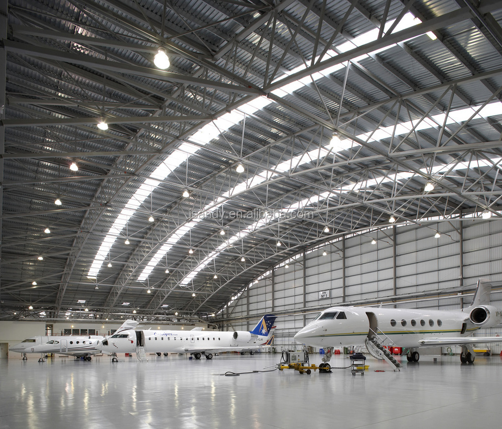 Large Span Aircraft Hangar Prefabricated Arch Steel Roof
