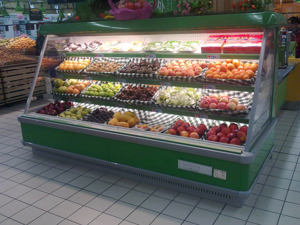 Supermarket Open Front Cold Drink Fridge/Open Display Refrigerator ...