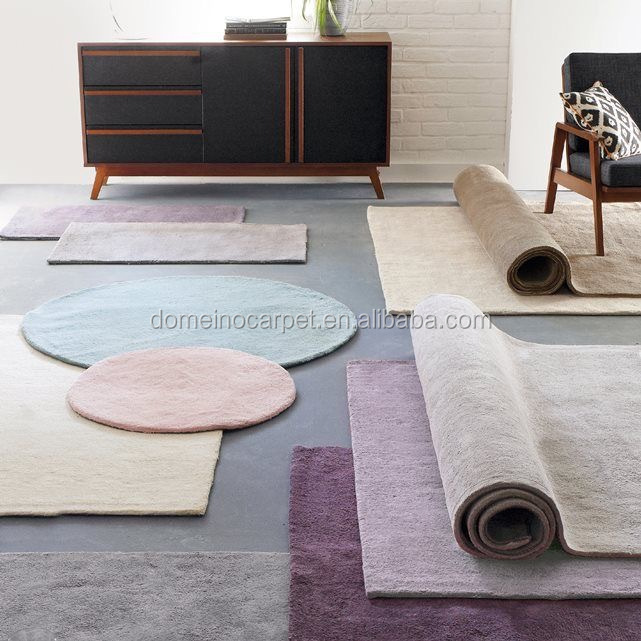 High quality 100%New Zealand wool rugs in solid colors