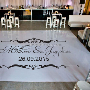Vinyl Floor Graphics Stickers Printing Customized Wedding Dance Floor Decal