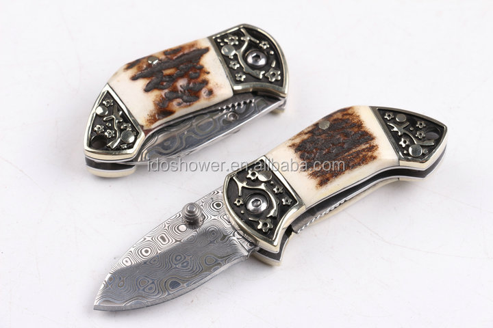 Doshower yangjiang knife with knife switch of golden pocket knives