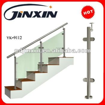 Stainless Steel Glass Balustrade Side Fixing U Channel Railing