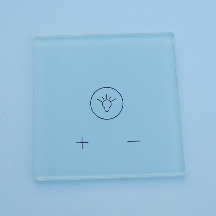 factory custom wholesale strenghened touch buttons light switch glass plates