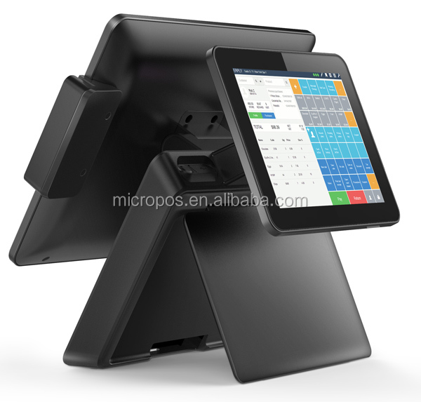15 inch led touch screen restaurant Pos system, single screen Pos terminal