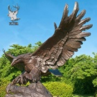 Outdoor Sculptures Metal Craft Bronze Large Eagle Statue On Trunk