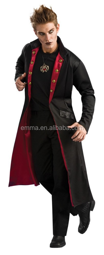 Mens Casaco Novo Rockstar Medieval Vampiro Halloween Fancy Dress Costume BM3010