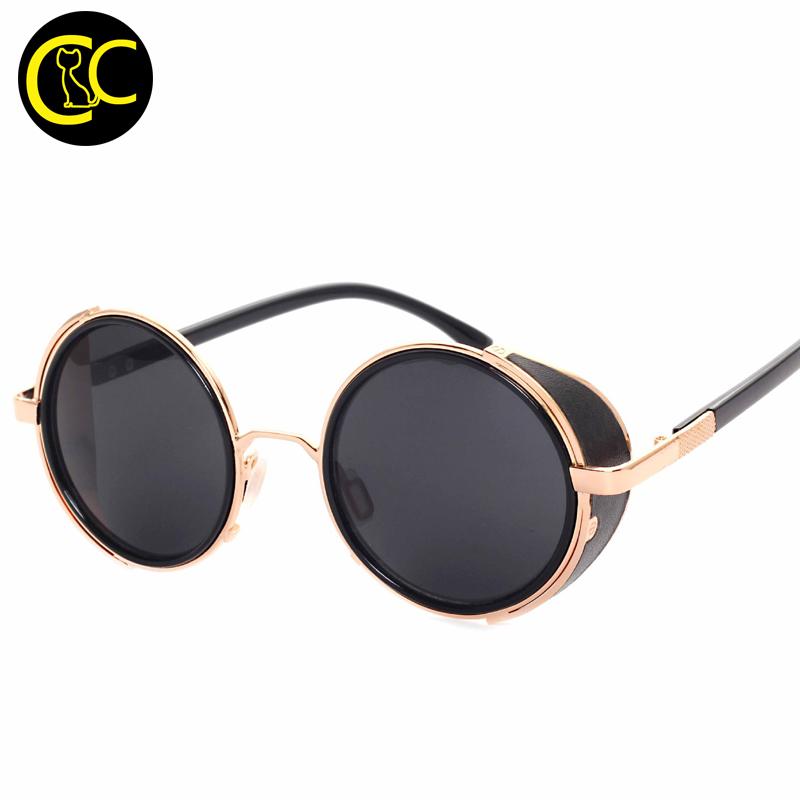 191c18239f Nuevo Vintage Steampunk Diseñador Gafas De Sol Lado Visor Lente De Círculo  Redondo Gafas De Sol De Mujer Hombres Retro Gafas Cc5044 - Buy Gafas De Sol  ...