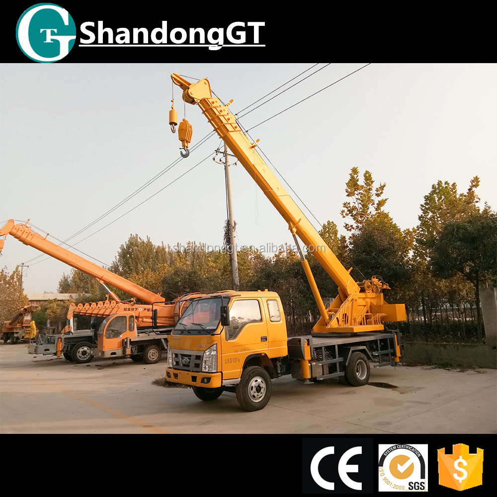 crane truck with 15 tons truck mounted crane price