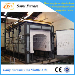 Large Size Industrial Furnace Fuel Gas Shuttle Kiln For Ceramic Tiles