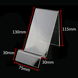 Factory customized acrylic single mobile phone display holder stand