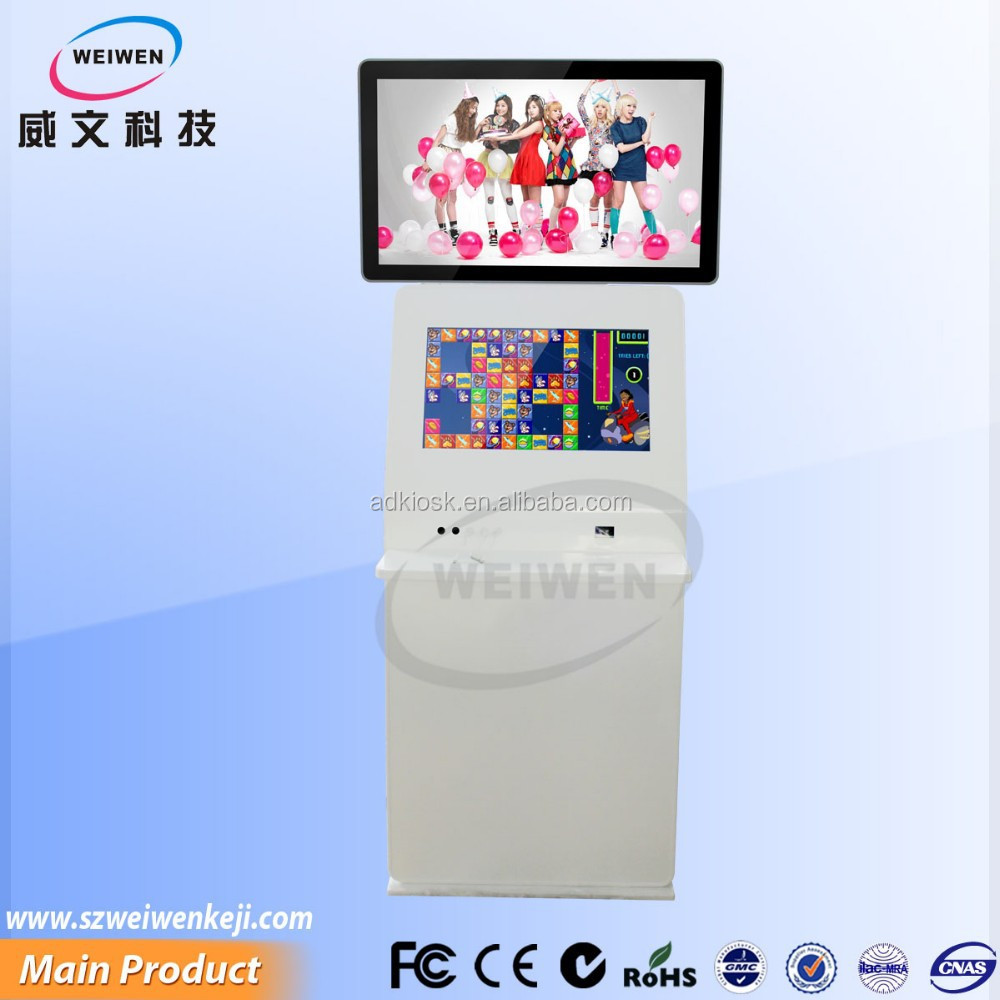sign boards for shops portable digital video player 32inch dual screen lcd touch panel pc
