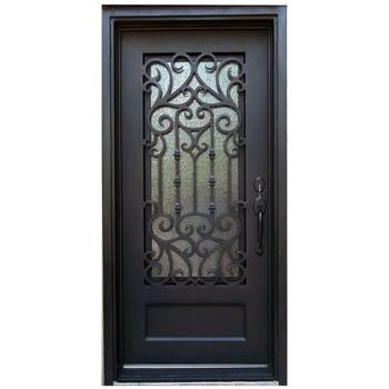 Interior Wrought Iron Single Door Insert And Gl Panel