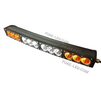 10w single row amber and yellow combo led light bar 120w curved led