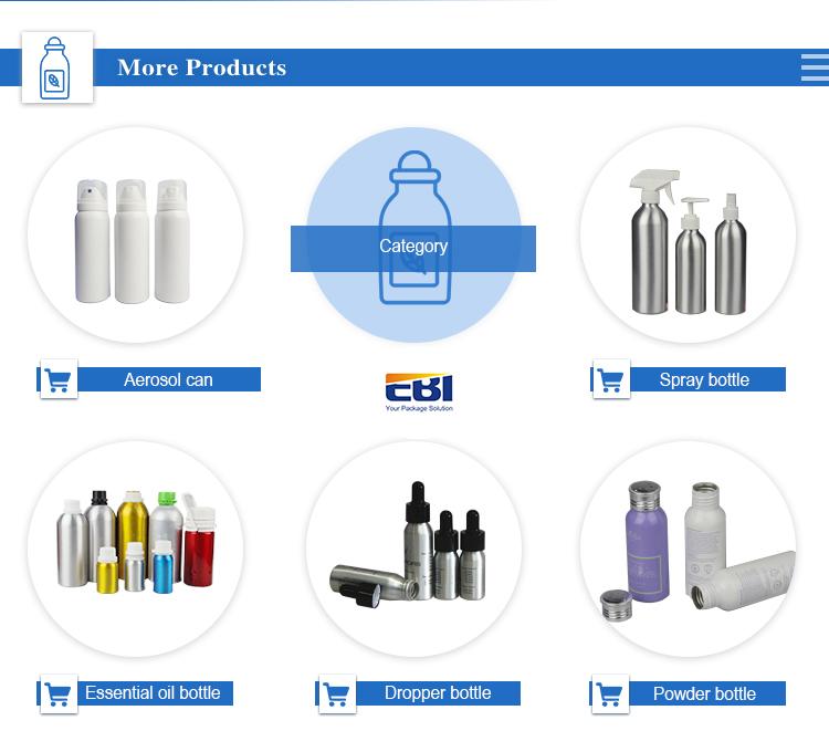 Vuoto Aerosol spray bottiglie in alluminio con valvola e attuatore chiusura commerci all'ingrosso