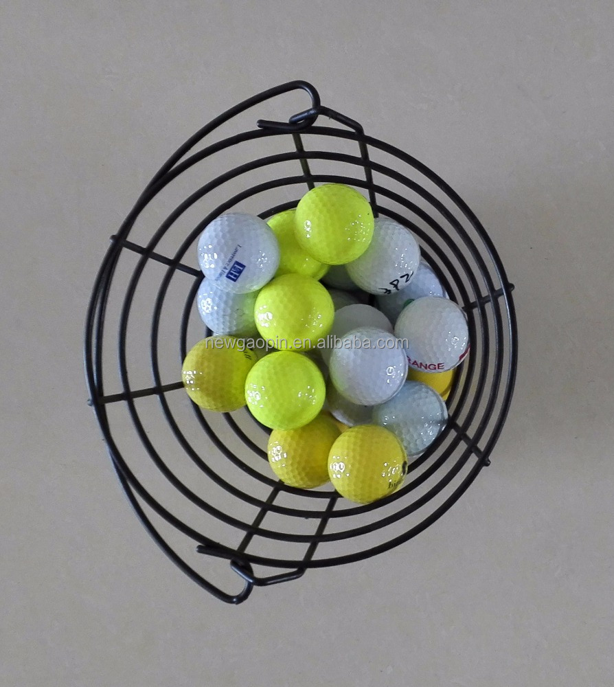 Metal Handle Iron Wire Golf Balls Basket