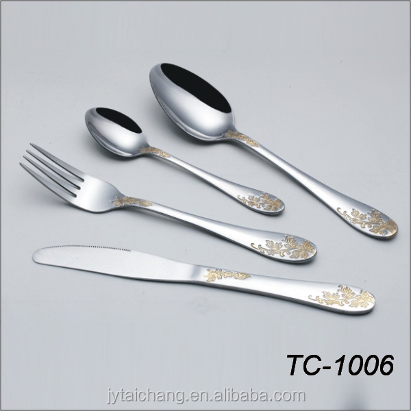 Stainless Steel Gold Plated Cutlery Sets